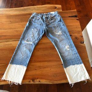 Zara High Waist Cropped Jeans